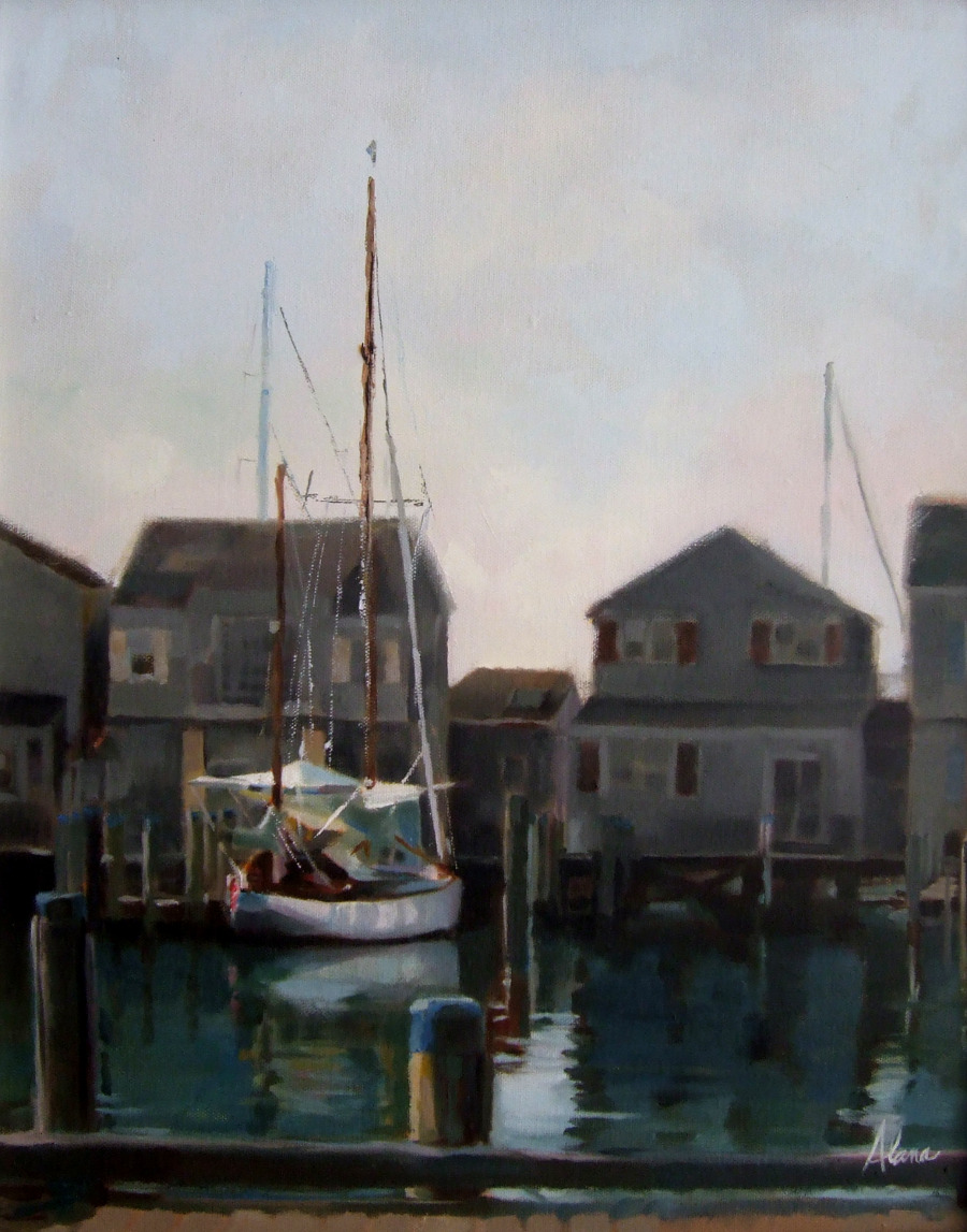 Morning along Straight Wharf - Nantucket